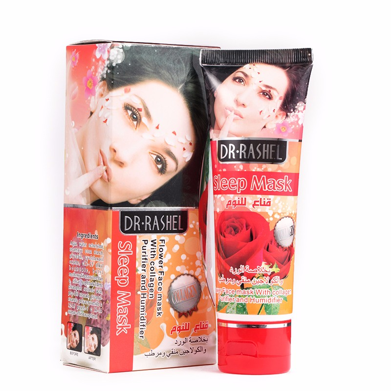 DR.RASHEL 80ml Collagen whitening Sleep Mask rose facial mask beauty female Face Mask