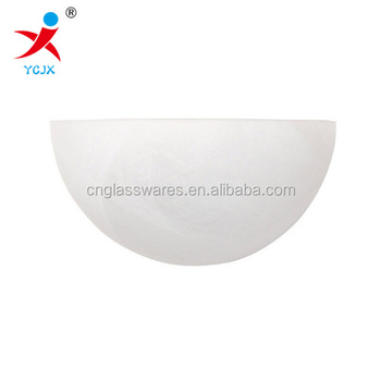Decorative Half Moon Frost Glass Wall Lamp Shade For Sale /led Wall Light - Buy Led Wall Light ...