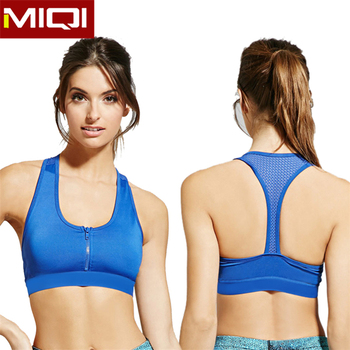 41bc6e6263 Women Nylon And Spandex Hot Yoga Clothing Sport Bra With Zipper Front Chest  - Buy Hot Yoga Clothing
