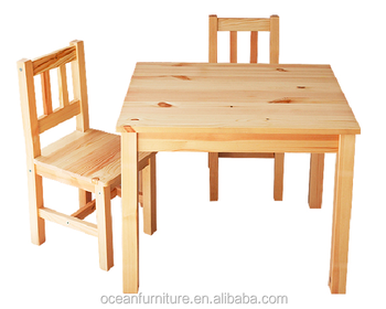Dismounting Pine Table And Chair Set For Children   Buy Kids Table
