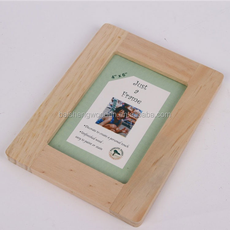 Cheap Unfinished Wood Picture Frames Wholesale Wooden Photo Frame ...