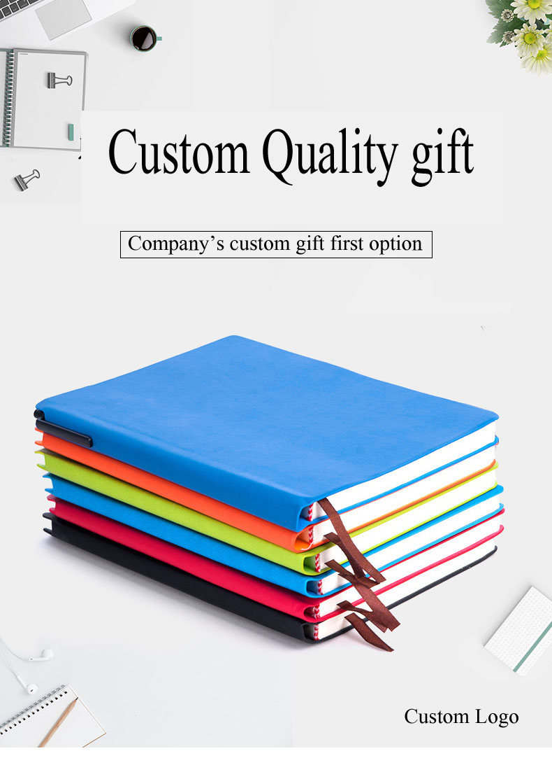 Nice design Customize A5 pu leather notebook with pen holder soft cover