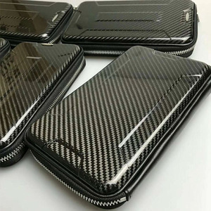 Multifunctional rfid blocking carbon fiber hard wallets