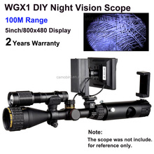 Wildgameplus WGX1 Tactical Night Vision Scope with 5w LED Torch Night Hunting Riflescope for Hunter