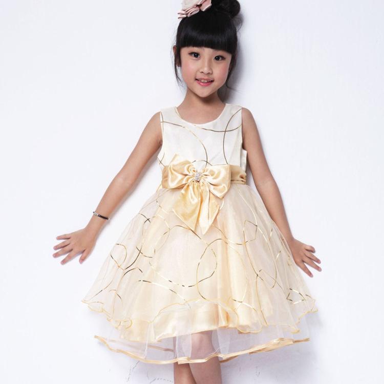 Buy Girls Pageant Dress Purple Gold Flower Girls Dresses For Beach ...