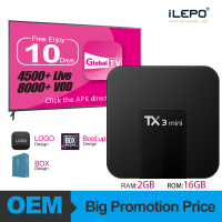 [FREE 10 Days IPTV] TX3 mini 2GB 16GB Set Top Box Android TV Box Support U DISK and USB Android 7.1 TV Box Streamer Player