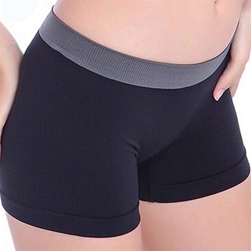 Недавно дизайн летом женские черный спорт тренажерный зал пояс тощие шорты July9