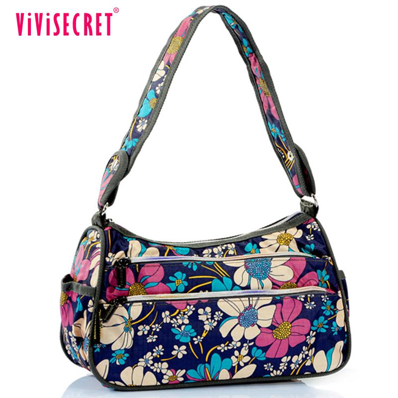 Vivisecret Top Brands Washable Handbags Long Strip Nylon Print Las Shoulder Bag Casual Hand Bags