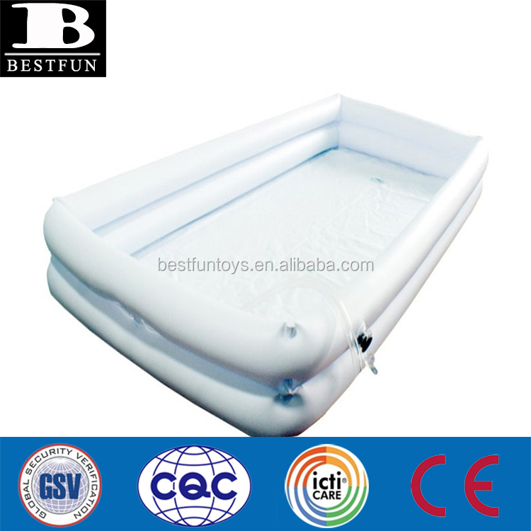 top quality inflatable bed bathtub durable vinyl inflatable medical care bed bath