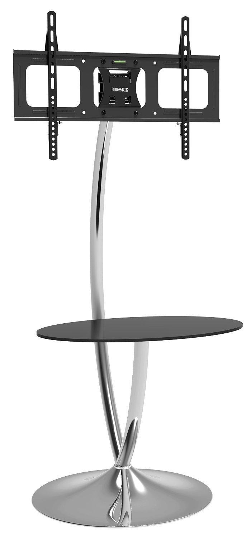 "Duronic TVS3F1 Modern Contemporary Designer Glass Shelf Floor 30""-60"" TV Stand with Tilt. Suitable for LCD, Plasma, Led, 3D TV's 32"" 37"" 40"" 42"" 46"" 50"" 60''"