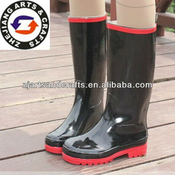 huge discount bb11e 94747 Black Vamp Red Sole Fashion Water Proof Rubber Boots For Women - Buy Rubber  Boots,Rubber Farm Boots,Rubber Shift Boots Product on Alibaba.com