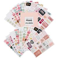 Productive Custom decorative PVC sticker/life daily weekly monthly planner stickers