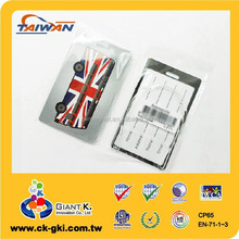 PVC Plastic luggage Tag for promotional gift UK bag tag