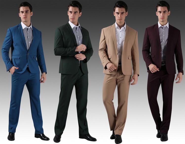 (Kurtki + Spodnie) 2016 Nowych Mężczyzna Garnitury Slim Fit Niestandardowe Garnitury Smokingi Marka Moda Bridegroon Biznes Suknia Ślubna Blazer H0285 8