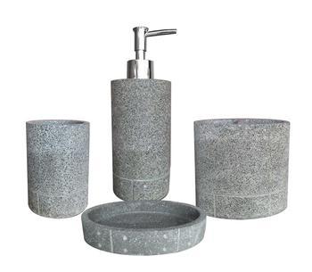 Gorgeous Grey Cement Bathroom