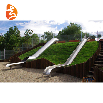 Factory Supply Stainless Steel Outdoor Kids Playground Slide For Sale