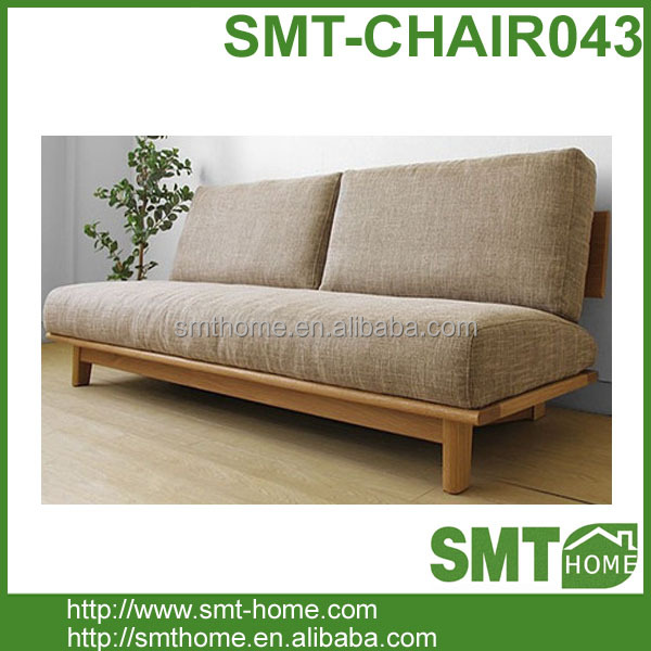 Solid Wood Oak Living Room Bench Wood Sofa Bed Chair Design