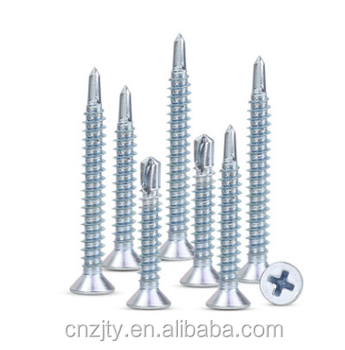 Yellow zinc coating screws of countersunk head chipboard screw (furniture screws )