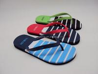 2015 new design high quality cheape price man EVA stripe printing flip flop