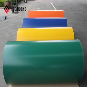 high quality 0.08, 0.12,0.21,0.3 mm thick RAL number customized color coated aluminum coil for acp