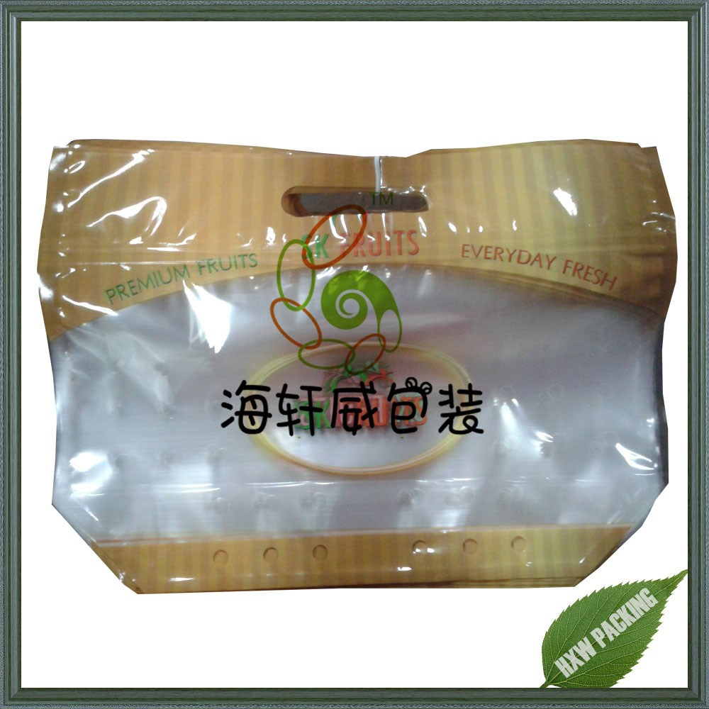 Hot chicken food take away food packaging bag with handle/cooked food packing bag with resealable ziplock