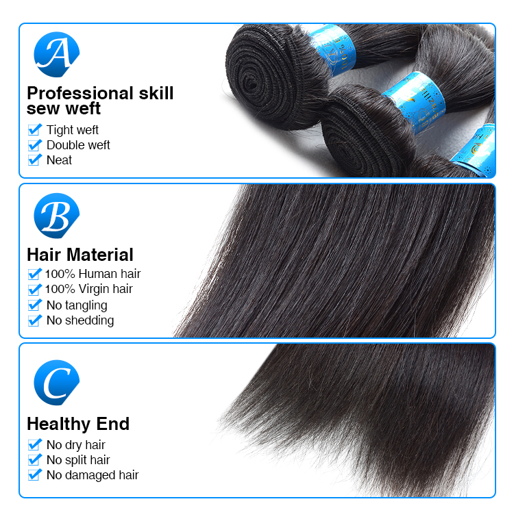 Double strong weft top silky straight 100% unprocessed virgin brazilian blue ribbon hair, new design blue braiding hair