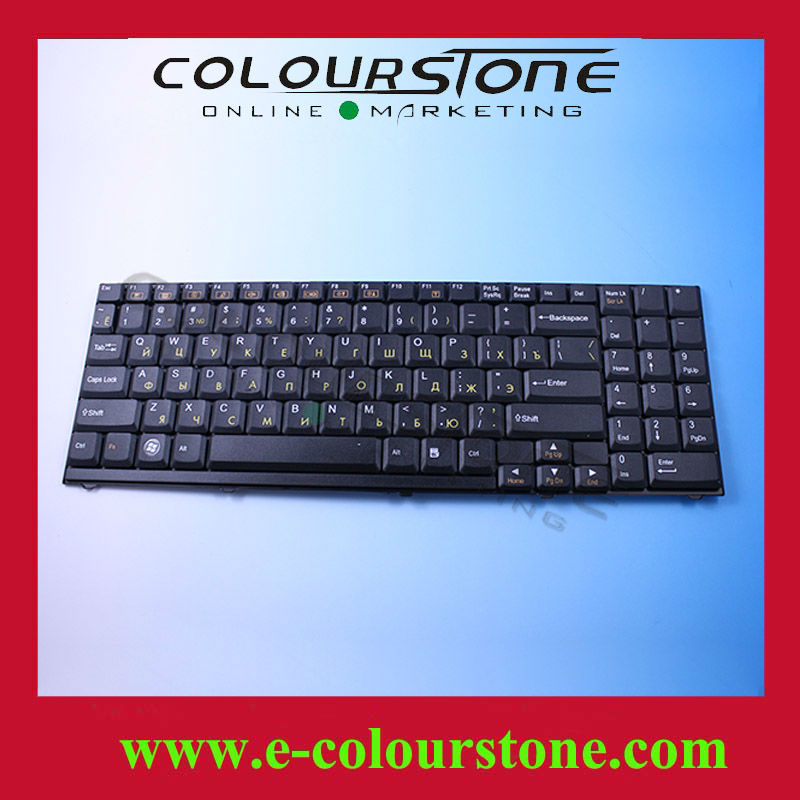 Original Laptop Keyboard For Clevo D9 D90 D900 D900C Series BLACK Russian Layout MP-03753SU-4305L