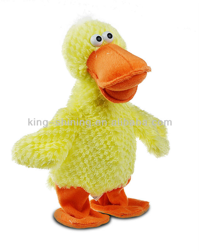 toys plush dolls duck with musical module