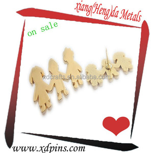 little kid shape school pin badge for children