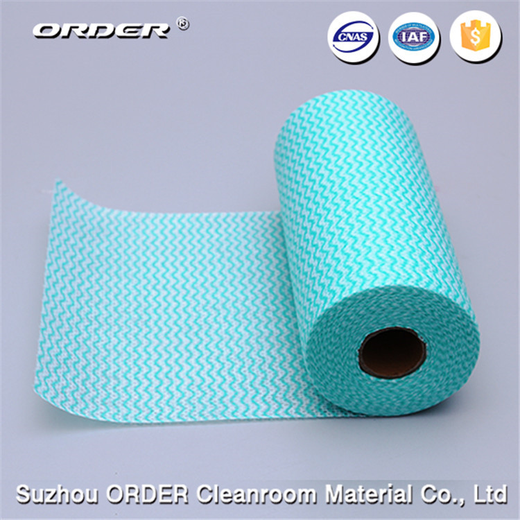 Suzhou super absorbent disposable non woven spunlace wipe roll