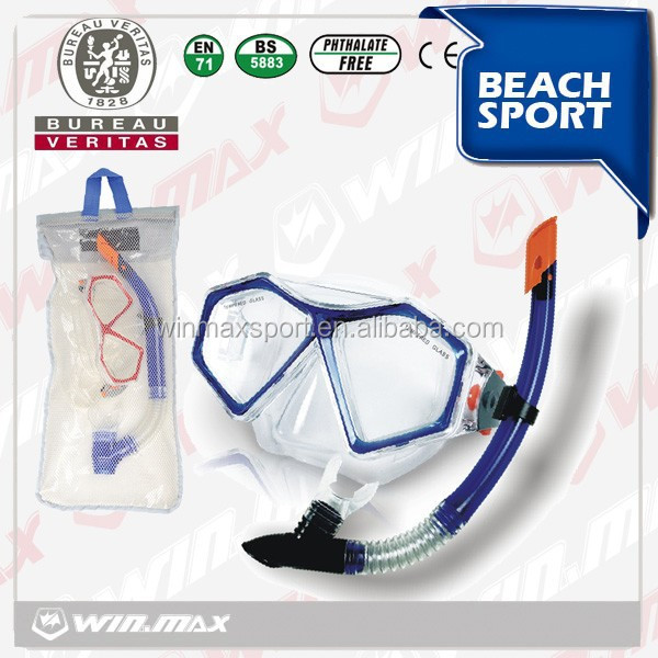 Winmax Professional diving mask and snorkel set with swim goggle