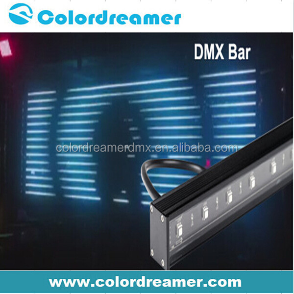 Aluminum housing addressable linear strip tube digital rgb dmx led rigid bar