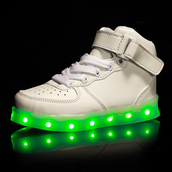 ffe84c94deaa8c usb charge genuine leather LED shoes men women sneaker shoes light up shoes  for women