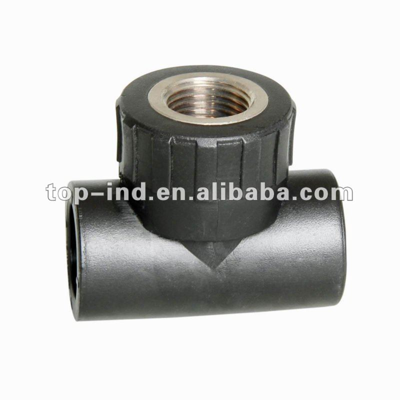stainless steel polyethylene pe pipe fittings female thread tee