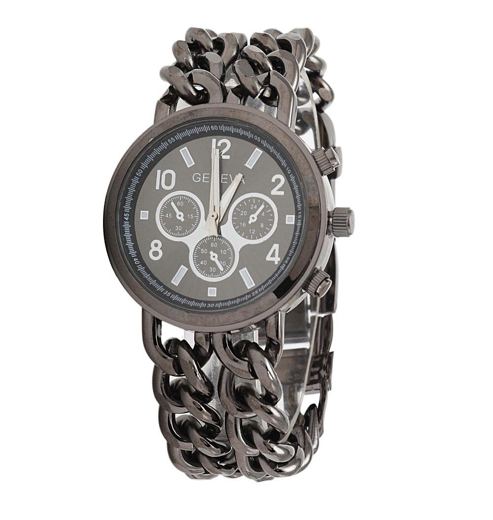 Get Quotations · uhr Geneva Brand Fashion unisex Quartz Watches Stainless  Steel Wristwatches kors watch women men fashion watch 1ebb6b88c0