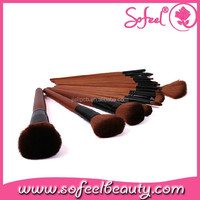 18pcs Professional Cosmetic high quality makeup Brush kit with Fashion Leopard case factory china