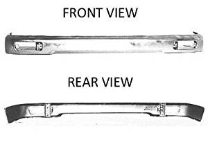 Crash Parts Plus Crash Parts Plus Front Silver Bumper Face Bar for 1995-1997 Toyota Tacoma