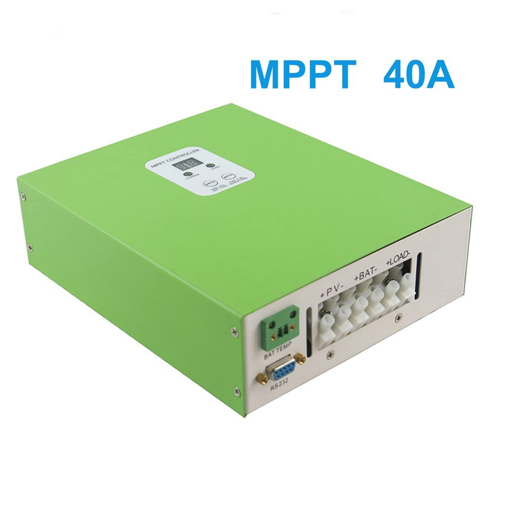 Y-SOLAR Green 40A MPPT Network Solar Charge Controller with PC Communcation Cable and Software Solar Regulator