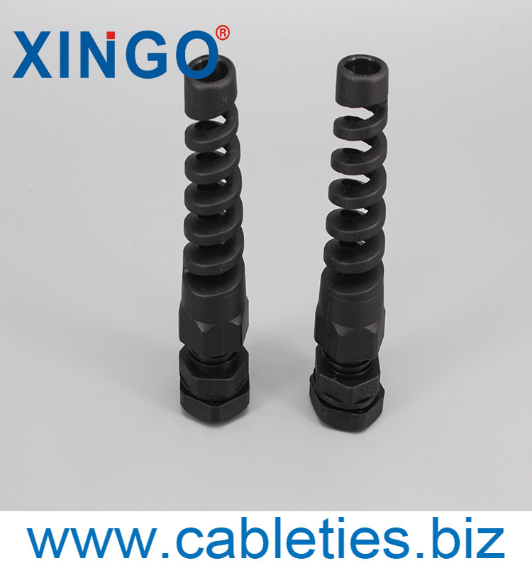CE approved nylon plastic cable gland with strain relief black color M PG thread type IP68 protection