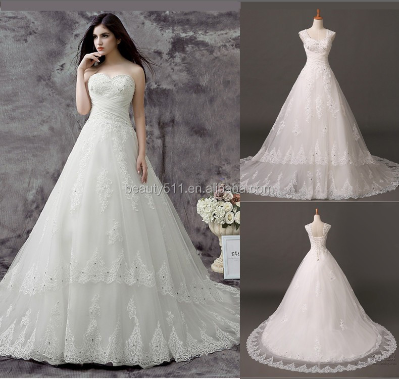 2017 Real Photo Wedding Gowns Exquisite Beaded A Line Sweetheart