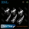 2017 Bestselling double wall thermal P Banger&clear&tranparent Themal P Quartz banger nail Themal P banger