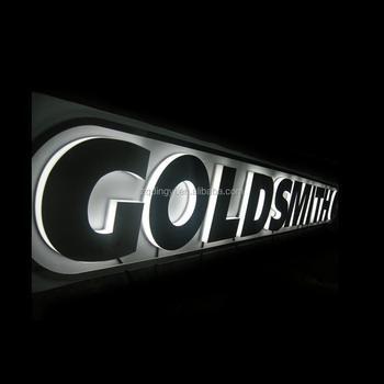 Custom Advertising Signs Backlit Ul Led Channel Signs Company Shop Store  Names Acrylic Led Light Lettering - Buy Led Light Lettering,Aluminum Led