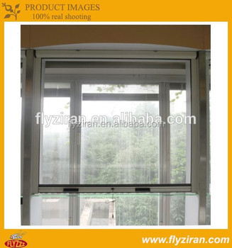 Aluminium Window Roller Mosquito Screen With Protection Fibergl Insect