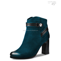 wholesale chinese cheap anti-slip metalic button shoes winter boots for women