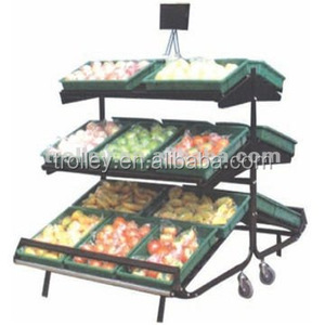 Display Vegetable Fruit Rack for Supermarket Store
