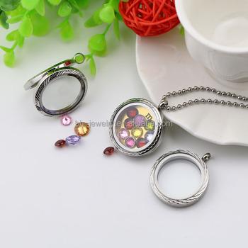 Custom Glass Photo Frame Locket Necklace,Open Wedding Cage Locket ...