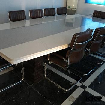 White Solid Surface Quartz Stone Marble Conference Table Buy - White marble conference table