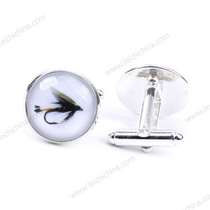 Fishing tool stone tie set and stainless steel cufflink