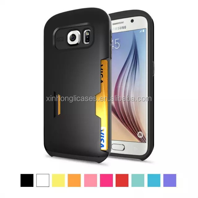 New Fashion Card Tasche Wallet Slim Armor Hybrid Hülle für Samsung Galaxy S6