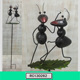 Taiji Chinese Kongfu Ant Wrought Iron Garden Stake Outdoor Park Decoration